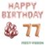 Feest-vieren 77 jaar Verjaardag Versiering Ballon Pakket rosé goud
