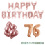 Feest-vieren 76 jaar Verjaardag Versiering Ballon Pakket rosé goud