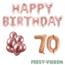 Feest-vieren 70 jaar Verjaardag Versiering Ballon Pakket rosé goud