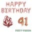 Feest-vieren 41 jaar Verjaardag Versiering Ballon Pakket rosé goud