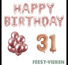 31 jaar Verjaardag Versiering Ballon Pakket rosé goud