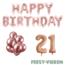 Feest-vieren 21 jaar Verjaardag Versiering Ballon Pakket rosé goud
