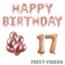 Feest-vieren 17 jaar Verjaardag Versiering Ballon Pakket rosé goud