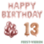 Feest-vieren 13 jaar Verjaardag Versiering Ballon Pakket rosé goud