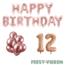 Feest-vieren 12 jaar Verjaardag Versiering Ballon Pakket rosé goud