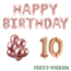 Feest-vieren 10 jaar Verjaardag Versiering Ballon Pakket rosé goud