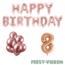 Feest-vieren 8 jaar Verjaardag Versiering Ballon Pakket rosé goud