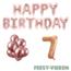 Feest-vieren 7 jaar Verjaardag Versiering Ballon Pakket rosé goud