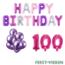 Feest-vieren 100 jaar Verjaardag Versiering Ballon Pakket Pastel & Roze