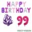 Feest-vieren 99 jaar Verjaardag Versiering Ballon Pakket Pastel & Roze