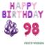 Feest-vieren 98 jaar Verjaardag Versiering Ballon Pakket Pastel & Roze