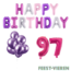 Feest-vieren 97 jaar Verjaardag Versiering Ballon Pakket Pastel & Roze