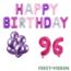 Feest-vieren 96 jaar Verjaardag Versiering Ballon Pakket Pastel & Roze