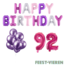 Feest-vieren 92 jaar Verjaardag Versiering Ballon Pakket Pastel & Roze