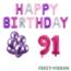 Feest-vieren 91 jaar Verjaardag Versiering Ballon Pakket Pastel & Roze