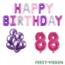 Feest-vieren 88 jaar Verjaardag Versiering Ballon Pakket Pastel & Roze