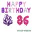 Feest-vieren 86 jaar Verjaardag Versiering Ballon Pakket Pastel & Roze