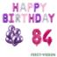 Feest-vieren 84 jaar Verjaardag Versiering Ballon Pakket Pastel & Roze