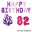 Feest-vieren 82 jaar Verjaardag Versiering Ballon Pakket Pastel & Roze