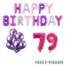 Feest-vieren 79 jaar Verjaardag Versiering Ballon Pakket Pastel & Roze