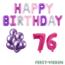 Feest-vieren 76 jaar Verjaardag Versiering Ballon Pakket Pastel & Roze