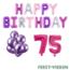 Feest-vieren 75 jaar Verjaardag Versiering Ballon Pakket Pastel & Roze