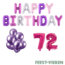 Feest-vieren 72 jaar Verjaardag Versiering Ballon Pakket Pastel & Roze