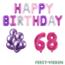 Feest-vieren 68 jaar Verjaardag Versiering Ballon Pakket Pastel & Roze