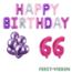 Feest-vieren 66 jaar Verjaardag Versiering Ballon Pakket Pastel & Roze