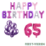 Feest-vieren 65 jaar Verjaardag Versiering Ballon Pakket Pastel & Roze