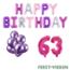 Feest-vieren 63 jaar Verjaardag Versiering Ballon Pakket Pastel & Roze
