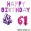 Feest-vieren 61 jaar Verjaardag Versiering Ballon Pakket Pastel & Roze