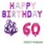 Feest-vieren 60 jaar Verjaardag Versiering Ballon Pakket Pastel & Roze