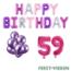 Feest-vieren 59 jaar Verjaardag Versiering Ballon Pakket Pastel & Roze