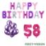 Feest-vieren 58 jaar Verjaardag Versiering Ballon Pakket Pastel & Roze