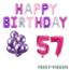 Feest-vieren 57 jaar Verjaardag Versiering Ballon Pakket Pastel & Roze