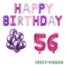 Feest-vieren 56 jaar Verjaardag Versiering Ballon Pakket Pastel & Roze