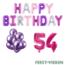 Feest-vieren 54 jaar Verjaardag Versiering Ballon Pakket Pastel & Roze