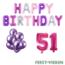 Feest-vieren 51 jaar Verjaardag Versiering Ballon Pakket Pastel & Roze