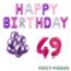 Feest-vieren 49 jaar Verjaardag Versiering Ballon Pakket Pastel & Roze