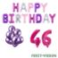 Feest-vieren 46 jaar Verjaardag Versiering Ballon Pakket Pastel & Roze