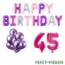 Feest-vieren 45 jaar Verjaardag Versiering Ballon Pakket Pastel & Roze