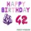 Feest-vieren 42 jaar Verjaardag Versiering Ballon Pakket Pastel & Roze