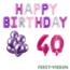 Feest-vieren 40 jaar Verjaardag Versiering Ballon Pakket Pastel & Roze