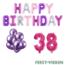 Feest-vieren 38 jaar Verjaardag Versiering Ballon Pakket Pastel & Roze