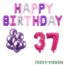 Feest-vieren 37 jaar Verjaardag Versiering Ballon Pakket Pastel & Roze