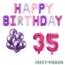Feest-vieren 35 jaar Verjaardag Versiering Ballon Pakket Pastel & Roze