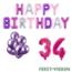 Feest-vieren 34 jaar Verjaardag Versiering Ballon Pakket Pastel & Roze