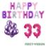 Feest-vieren 33 jaar Verjaardag Versiering Ballon Pakket Pastel & Roze