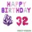 Feest-vieren 32 jaar Verjaardag Versiering Ballon Pakket Pastel & Roze